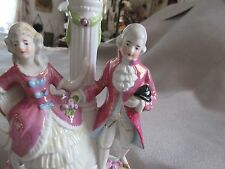 VINTAGE BOUDOIR LAMP DRESSER VANITY COLONIAL COUPLE FIGURES NICELY DONE!!
