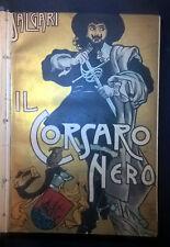 SALGARI IL CORSARO NERO ILLUSTRATO GAMBA 1928