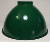 "NEW 7 1/16"" Metal Dome Lamp Light Shade Pendant Green Porcelain Industrial Style"