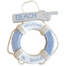 LIFEBUOY BEACH WELCOME ON BOARD SIGN BOAT MARINE SEA 34cm