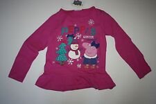 New Peppa Pig Applique Tunic Top Peppa's Winter Adventure Size 18-24 M 92cm