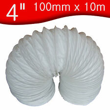 "100mm x 10 m Universal 4"" PVC Flexible Ducting Tumble Dryer Extractor Vent Hose"