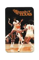 1982 University of Texas Women's Basketball Double Sided Pocket Schedule