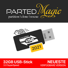 Parted Magic 2021 PC Recovery Repair 32GB USB-Stick 3.0 Linux BLITZVERSAND