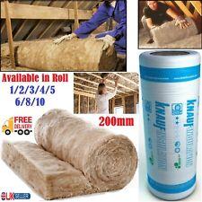 1/2/5/10x Knauf Loft Insulation Combi Cut 44 Earthwool Roll 200mm 5.93 m² Pack
