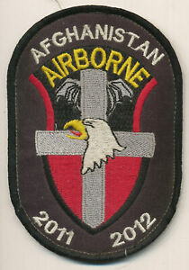 101st Airborne Division 2011-2012 crusader shield patch Afghan made