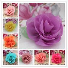 15pcs Chiffon ballerina flower DIY Kids Headbands supplies Hair Accessories Etc.
