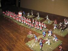 52 Painted 1/72 - Revolutionary War British Infantry & Artillery & Indian Scouts