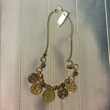 Pilgrim Enamel Flower Charm Necklace. New with tags