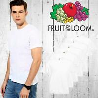 Fruit Of The Loom Plain White Cotton Mens Cheap Tee T-Shirt Childrens Tshirt