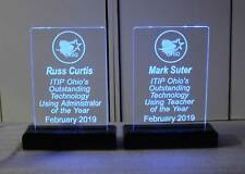 USB-Battery operated Rechargeable Name Plate, office sign, Lighted award