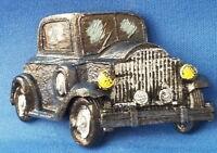 Blue Vintage Automobile Car - VEHICLE Resin Refrigerator MAGNET Sale
