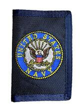 United States Navy Men's Logo Trifold Wallet Blue Tri-fold USN