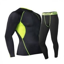 Men Thermal Underwear Set Thermo Long Johns Winter Warm Quick Dry Clothing Sets