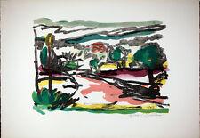 Luigi BARTOLINI - Strada di Villa Madama - 1962 litografia originale firmata B31