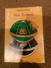 AUSTRALIA VS NEW ZEALAND RUGBY UNION PROGRAM 3rd test July 12 1980 SCG