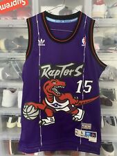 100% Authentic Vince Carter Toronto Raptors Purple 15 #15 NBA Jersey Size S Hwc