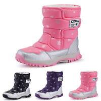 SAGUARO Winter Kids Girls Boys Warm Shoes Snow Boots Waterproof Plus Size UK
