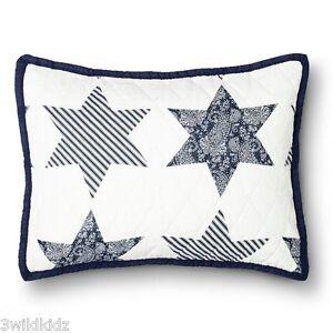 Threshold Americana Star Quilt Sham - Blue (Standard/Queen) Flag NEW