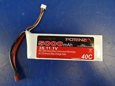 Potenza 3S 3 Cell 11.1V 5000mAh 40C LiPo Battery Deans R/C RC Surface Soft Pack