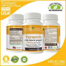 #1 Organic Tumeric with Black Pepper Vegetarian Capsules (120 x 2) |1000 mg