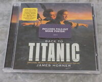 Back to Titanic by James Horner CD with Movie Poster Very Good Condition