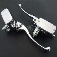 "Pair 7/8""22mm Motorcycle Handlebar Hydraulic Brake Clutch Lever Master Cylinder"