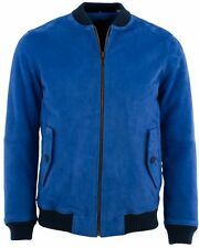 """Levi's Made & Crafted Suede Bomber Jacket Imperial Blue 44""""  BNWOT"""