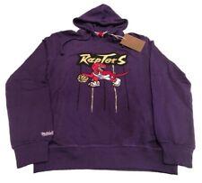 Toronto Raptors Mitchell Ness Purple Gold Strike Retro Logo Sweatshirt Hoodie