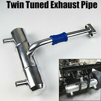 RDLogics TYPE-X 1Pc Twin Exhaust Tuned Pipe for TMaxx B 2.5//3.3