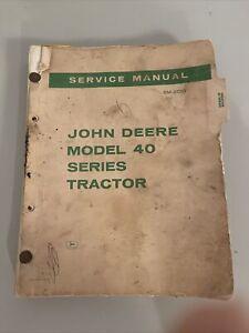 John Deere 40 Series Tractor Service Manual for Dealers SM-2013 - Used Original