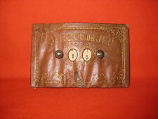 Antique 1850s Leather Whist / Bridge Counter