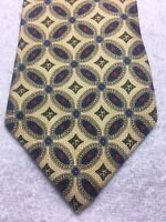 TOMMY HILFIGER MENS TIE YELLOW WITH BLUE AND RED 4 X 59