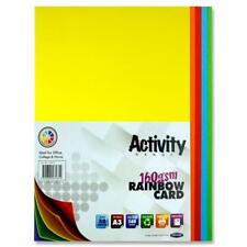 A3 activity sheets card  rainbow colours 160gms Craft 50 sheets