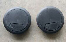 """2x (60MM) 2-3/8"""" Round Black Computer Desk Table Wire Cable Hole Cover Grommet"""