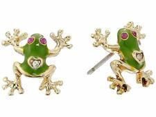 BETSEY JOHNSON~NWT Green JUNGLE BOOK FROG Stud Earrings