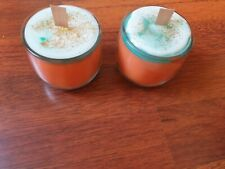 Hand Crafted Wooden wick Pumpkin Orange Candle