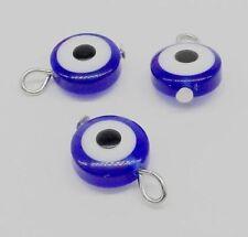 25Pcs Hamsa EVIL EYE Kabbalah Luck Charms Pendant Fit Bracelet 17x11mm