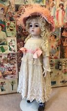 """Amazing 28"""" Bru Jne Reproduction Bisque Doll Antique Clothing Mohair Wig Repro"""