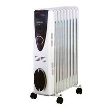 Portable 7 Fin 1500w Electric OIL FILLED RADIATOR Heater With Thermostat Control