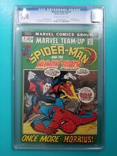 Marvel Team-Up #3 CGC 9.4 1972 OW/W Pg Spider-Man Human Torch Morbius Vampire