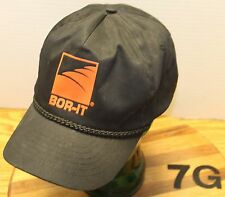 BOR-IT AUGER DRILLING HAT ASHLAND OHIO BLACK SNAPBACK ADJUSTABLE VERY GOOD COND