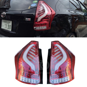 Toyota Prius V Valenti LED Tail Light Sequential Signal ZVW40 Clear Red 12-18