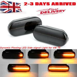 2pcs Dynamic Flowing LED Side Marker signal Light Indicator Blinker For VW T5