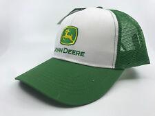 JOHN DEERE GREEN / WHITE TRUCKER CAP