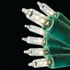 New 100ct GE String-A-Long Christmas Mini Light Set with Green Wire, Clear Light