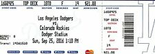 Hard Copy Top Deck Ticket 9/25/16 Vin Scully's last game at Dodger Stadium QTY