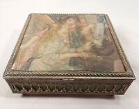 Girls at the Piano by Pierre-Auguste Renoir Antique Soft Top Trinket/Jewelry Box