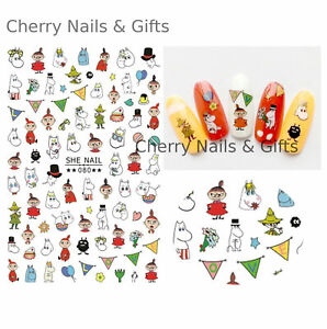 moomin inspired NAIL ART STICKER decal cute gifts manicure diy character