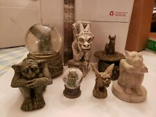 Set of 7 Awesome Gargoyle Figurines, Snow Globes & Taper Candle Holder/statue